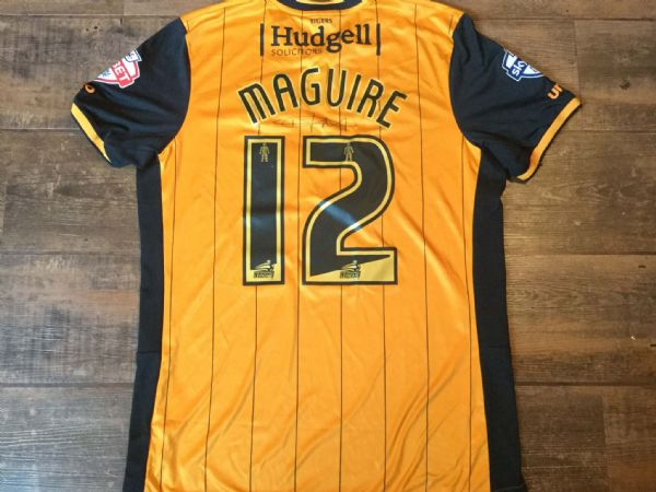 2015 2016 Hull City Match Worn Maguire No 12 Home Football Shirt
